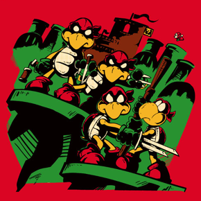 """Teenage Koopa Ninja Bros."" T-Shirt 